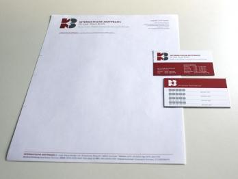 Geschäftsausstatt. Briefbogen + Visitenkarten
